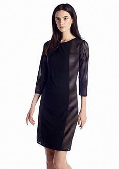 Nine West Dress Jersey Panel Sheath Dress