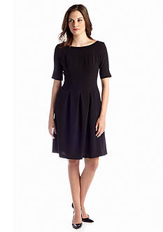 Nine West Dress Fit and Flare Pleated Dress