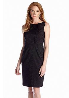Nine West Dress Jacquard Sheath Dress