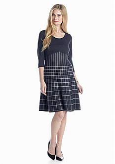 Nine West Dress Fit and Flare Sweaterdress
