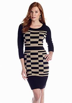 Nine West Dress Printed Sweaterdress
