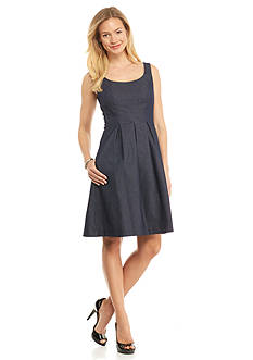 Nine West Denim Fit and Flare Dress