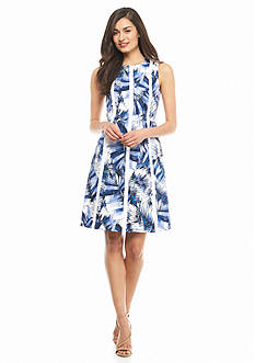 Nine West Printed Sateen Sheath Dress