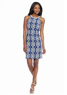 Nine West Floral Lace Halter Dress