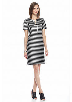 Nine West Striped Shift Dress