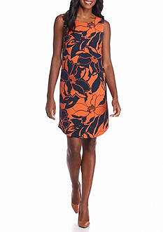 Nine West Floral Printed Sheath Dress