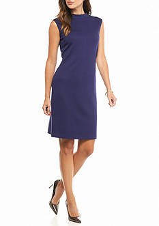 Nine West Mock Collar Ponte Sheath Dress