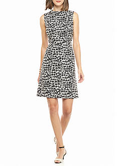 Nine West Printed A-line Dress