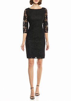 Nine West Lace and Ponte Shift Dress