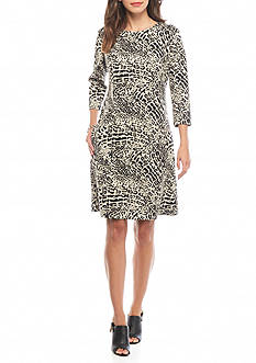 Nine West Leopard Printed Shift Dress