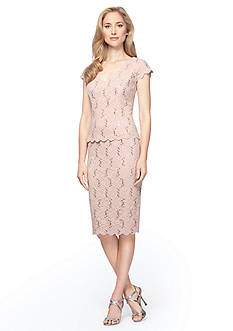 Alex Evenings Mock Two-Piece Cocktail Dress