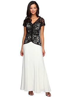 Alex Evenings Long Gown with lace