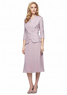 Alex Evenings T-Length Jacket Dress