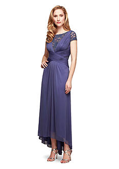 Alex Evenings Cap Sleeve High-Low Dress