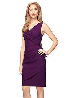 Alex Evenings Sleeveless Sheath Cocktail Dress