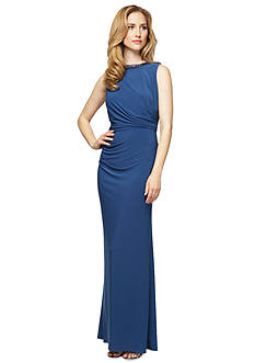 Alex Evenings Sleeveless Gown with Beaded Neckline