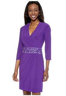 Alex Evenings Three-Quarter Sleeved Surplus Dress