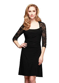 Alex Evenings Three Quarter Sleeve Sheath Dress