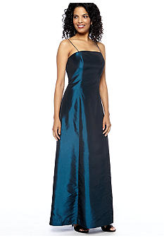 Alex Evenings Spaghetti Strap Ball Gown with Stole