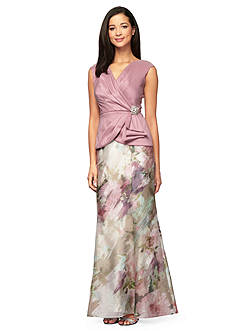Alex Evenings Mock Two-Piece Gown