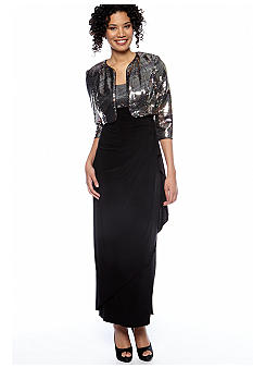 Alex Evenings Bolero Jacket Dress with Sequins