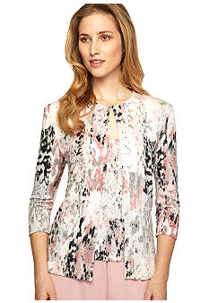 Alex Evenings Three-Quarter Sleeved Twinset