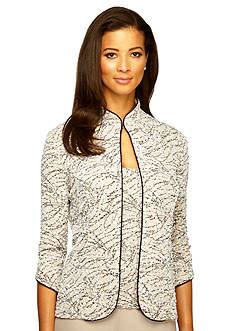 Alex Evenings Mandarin Collar Twinset