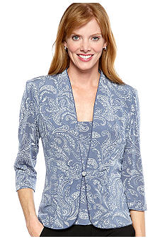 Alex Evenings Three-Quarter Sleeved Printed Twin Set