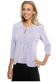 Alex Evenings Three-Quarter Sleeved Printed Twinset