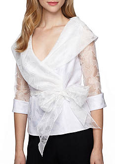 Alex Evenings Portrait Collar Blouse