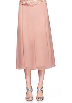 Alex Evenings T-length Chiffon Skirt