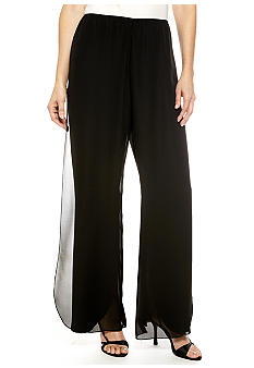 Alex Evenings Chiffon Pant with Flyaway Front Panel