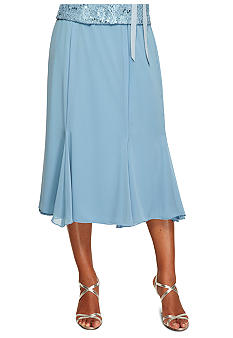 Alex Evenings T-length Fit and Flare Skirt