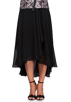 Alex Evenings T-Length High Low Skirt