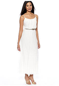 Robbie Bee Pleated Maxi Dress