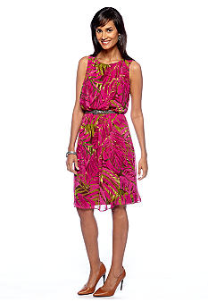 Robbie Bee Fern Print Dress