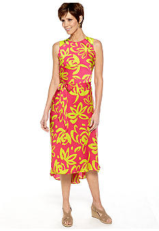 Robbie Bee Sleeveless Print Hi-Lo Dress