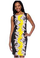Robbie Bee Sleeveless Mirror Print Sheath Dress