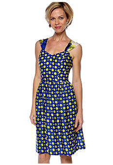Robbie Bee Sleeveless Printed Swing Dress
