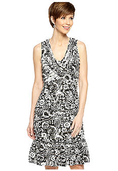 Robbie Bee Sleeveless Eyelash Sheath Dress