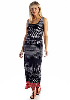 Robbie Bee Sleeveless Printed Maxi Dress