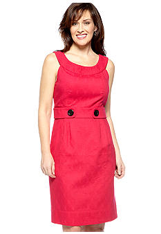 Robbie Bee Sleeveless Jacquard Sheath Dress
