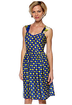 Robbie Bee Petite Sleeveless Printed Swing Dress