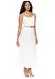 Robbie Bee Plus Size Pleated Maxi Dress