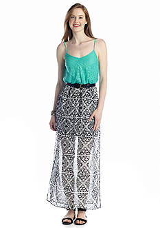 City Triangles Lace Top Tribal Maxi Dress
