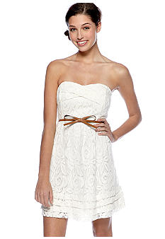 City Triangles Strapless Sweetheart Neckline Dress