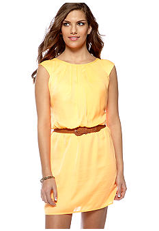 City Triangles Cap Sleeve Blouson Dress