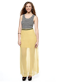 City Triangles Stripe Top Maxi Dress