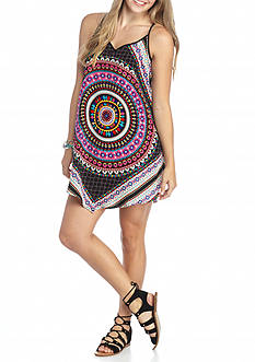 City Triangles Printed Slip Dress