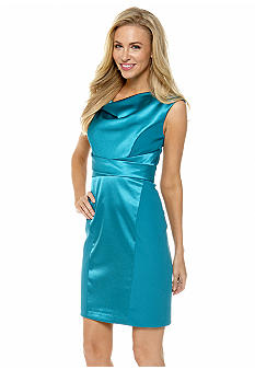 Donna Ricco New York Sleeveless Drape-Neck Sheath Dress